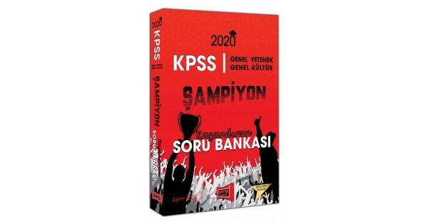KPSS Genel Yetenek Genel Kültür Şampiyon Kazandıran Soru Bankası